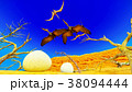 Egg and pterodactyl 3d rendering 38094444