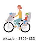 自転車 イラスト 女性のイラスト 38094833