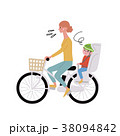 電動自転車 親子 イラスト 38094842