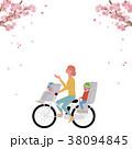 春 自転車 イラスト 38094845
