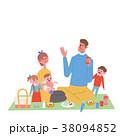 ピクニックをする 親子 イラスト 38094852