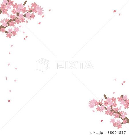桜 フレーム イラスト 38094857