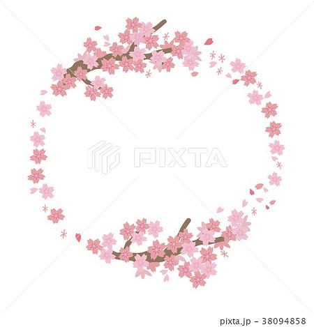 桜 フレーム 円 38094858