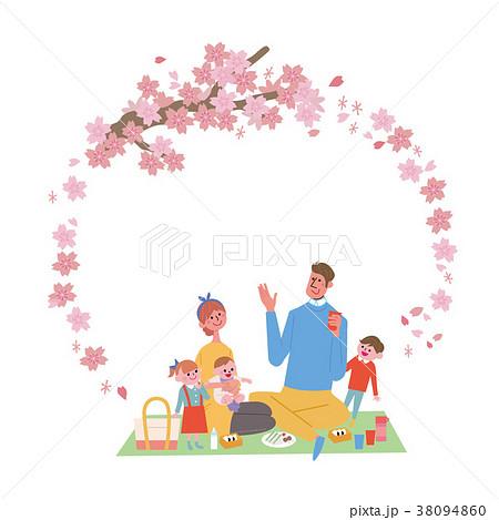 お花見 フレーム イラスト 38094860