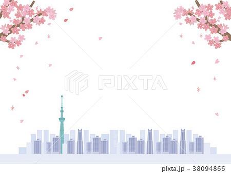 桜 東京 イラスト 38094866