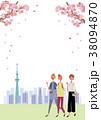 桜 お花見 花見のイラスト 38094870