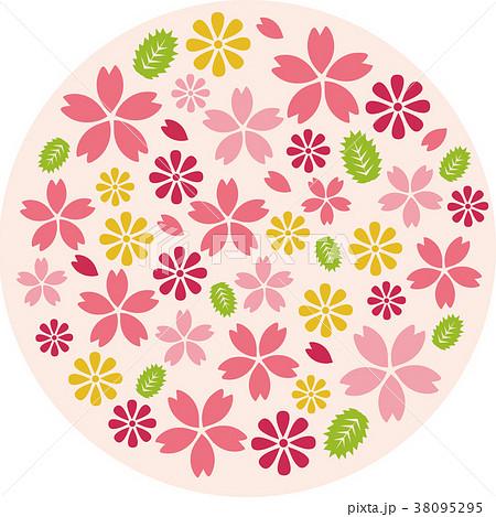 桜の円素材 38095295