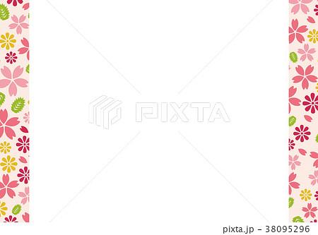 桜のメッセージカード素材 38095296