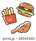 ハンバーガー ポテト フライドチキン 38095985
