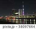 夜景 東京スカイツリー タワーの写真 38097664
