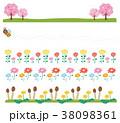 春 ライン 花のイラスト 38098361