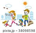 旅行 家族 お出掛けのイラスト 38098598