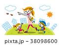 お出掛け 家族 親子のイラスト 38098600