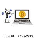 ビットコイン 仮想通貨 コンセプトのイラスト 38098945