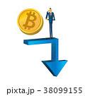 ビットコイン 仮想通貨 コンセプトのイラスト 38099155