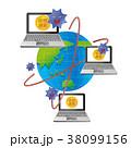 仮想通貨 コンピューター 不正入手のイラスト 38099156