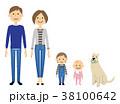 家族 赤ちゃん ペットのイラスト 38100642