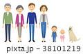 家族 3世代家族 三世代のイラスト 38101219