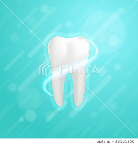 White molar tooth poster template 38101350