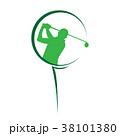 GOLF ゴルフ ゴルファーのイラスト 38101380