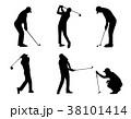 GOLF ゴルフ ゴルファーのイラスト 38101414