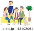 家族 ファミリー ペットのイラスト 38102061