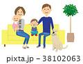 家族 ファミリー ペットのイラスト 38102063