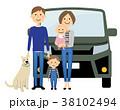家族 犬 ベクターのイラスト 38102494