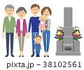 ファミリー お墓参り 家族 38102561