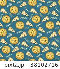 ピザ ピッツァ パターンのイラスト 38102716