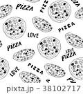 ピザ ピッツァ パターンのイラスト 38102717