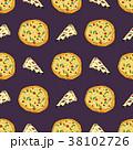 ピザ ピッツァ パターンのイラスト 38102726