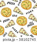 ピザ ピッツァ パターンのイラスト 38102745