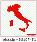 Map of Italy. Vector illustration. 38107451