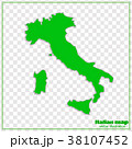 Map of Italy. Vector illustration. 38107452