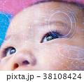 赤ちゃん ベビー 眼の写真 38108424