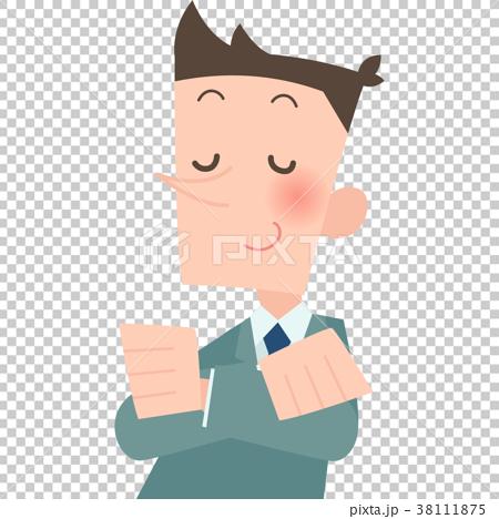 鼻が高いサラリーマン 38111875