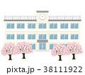 学校 桜 春のイラスト 38111922