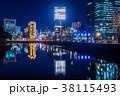東京 丸の内ビル街の夜景 38115493