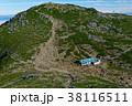 中岳から見る木曽駒ヶ岳山頂 38116511