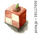 ケーキ スイーツ 食べ物のイラスト 38117400