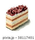 ケーキ スイーツ 食べ物のイラスト 38117401
