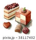 ケーキ チョコレート スイーツのイラスト 38117402