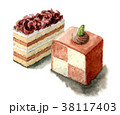 ケーキ チョコレート スイーツのイラスト 38117403