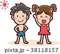 ベクター 男の子 女の子のイラスト 38118157
