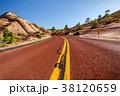 Empty scenic highway in Utah 38120659