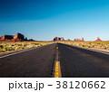 Empty scenic highway in Monument Valley 38120662