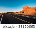 Empty scenic highway in Monument Valley 38120663