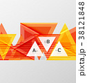 ベクター トライアングル 三角のイラスト 38121848