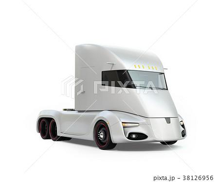 シルバー色の自動運転電動セミトラックのイメージ 38126956